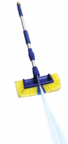 Extendable 2 IN 1 reach brush With jet spray
