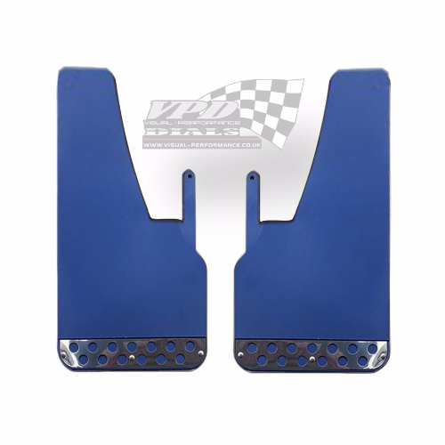 Race Rally Heavy duty Blue mud flaps